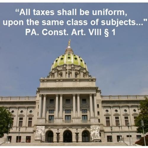 PA Supreme Court building, quote from constitution